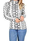 Islander Fashions Mujer Serpiente Estampado Snakeo Camiseta de Manga Larga Top para Mujer...