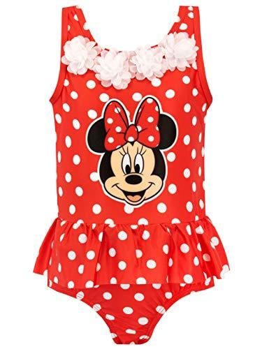 Disney Bañador para Niña Minnie Mouse Rojo 6-7 Años