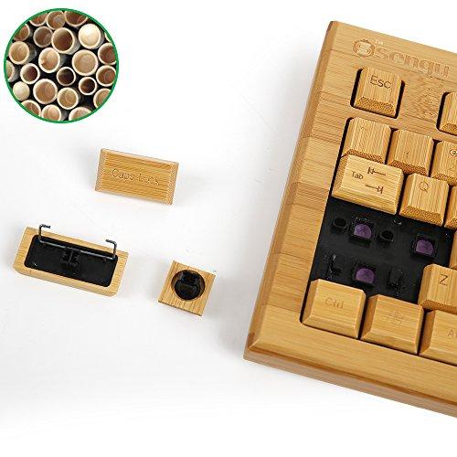 kabellose Bambus Tastatur und Maus - 6
