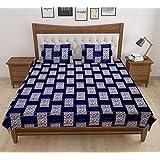 ea0a860ecf VIRAT ENTERPRISES Poly Cotton Double Bedsheet Set with 2 Pillow Covers  (King Size, Multicolour