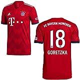 adidas FCB Heimtrikot 2018 2019 Herren Goretzka 18 Gr L