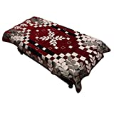 #10: Kuber IndustriesTM Exclusive Center Table Cover Maroon Cotton Fabric in Floral Design 40*60 Inches (Exclusive) KULZI323