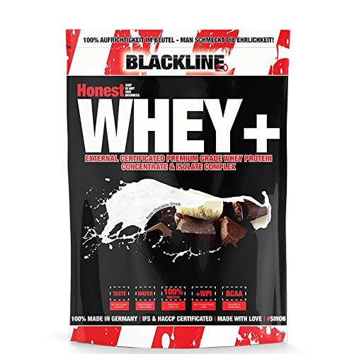 Blackline 2.0 Honest Whey+ 12,5% Garantierter Isolatanteil. Premium Molkenprotein Mit Natürlichem BCAA Anteil. Instant Whey (Extrem Gut Löslich) Als Proteinshake Für Den Muskelaufbau Beim Fitness, Kraftsport Und Bodybuilding. 1 x 1000g (Triple Chocolate) Coco Fett
