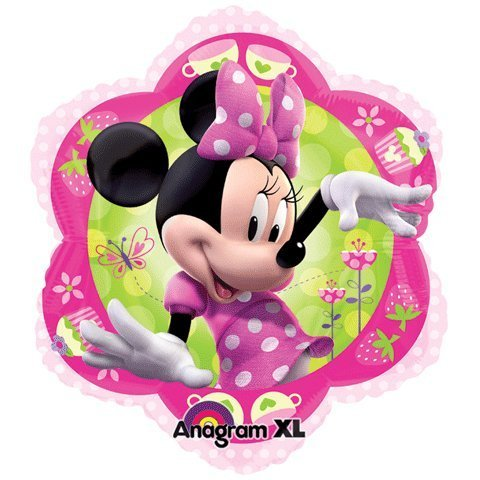 Minnie Mouse Pink Flower Shape 18 Mylar Foil Balloon by Anagram