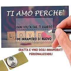Idea Regalo - Gratta E Vinci Personalizzato Degli Innamorati Horus Creations - 5 Biglietti