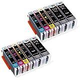 LxTek Ersatz für Canon 570XL 571XL PGI-570XL CLI-571XL Druckerpatronen Kompatibel mit Canon PIXMA MG5750 MG6850 TS5050 TS6050 MG5700 MG5751 MG5752 MG6800 MG6851 MG6852 TS5051 TS5055 TS6051 (12 Pack)