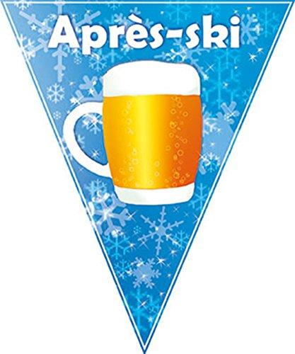 erdbeerparty - Motto-Party Deko-Girlande Apres Ski, Bierglas Fahne, Länge 5 m, Mehrfarbig