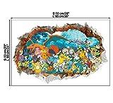 ZKPQT Mur Décoratif Dessin Animé Jeu Queue Gobelin Autocollant Fond Muraux Muraux Décoratifs Autocollant Autocollant Peintures Stickers Muraux