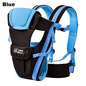 Vine Adjustable 4 Positions Baby Carrier 3D Backpack Pouch Bag Infant Wrap Soft Structured Ergonomic Sling Front Back Blue   9