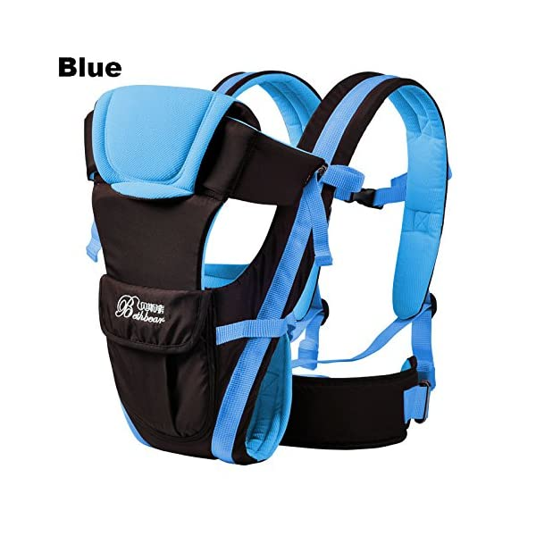 """GudeHome Baby Carrier 4 Positions Backpack, Front Facing, Kangaroo & Sling Lightweight Infant Carrier GudeHome COMFORT AND SECURITY - We know how important it is to you as the consumer to have a product that you can rely on and with peace of mind. That confidence you feel when you know your product was worth every penny! """"The proof is in the pudding"""" they say. Our double sling design provides extra security for baby and privacy while nursing. An adjustable shoulder belt and waist belt are made for safer carrying with a double-protection safety buckle eloquently designed just for your maximum comfort! EVERYTHING YOU EVER WANTED in a baby carrier can be found in flexible, lightweight, and ergonomic baby carrier. Our unique and comfortable carrier allows for FOUR safe carrying positions. The Backpack, Kangaroo, Front-Facing, & Sling positions can all be used based on your mood and comfort. This carrier provides plenty of back support. It sits on both shoulders to take stress off the back. No other baby carrier offers such a variety of positions and styles to carry your baby! QUALITY IS OUR PRIORITY - You may be thinking what separates this baby carrier from other brands that are made of cheap quality and initially seem fine, but soon after begin to fail. The baby carrier is made of top quality and premium material that is meant to last over a long-term period and designed to be the best and last brand of baby carrier you ever have to buy! 2"""