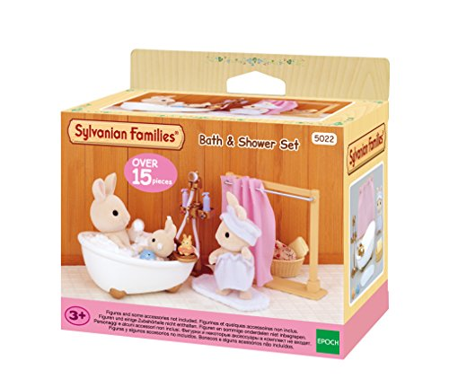Sylvanian Families-5022 Animales Set baño y Ducha, Color Assorted Colours, Blanco (Epoch para Imaginar 3562)