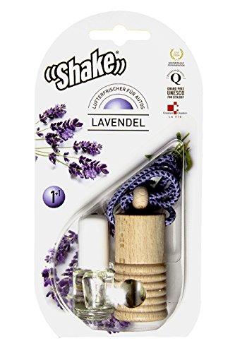 Preisvergleich Produktbild Shake Lufterfrischer für Autos aus rein ätherischen Ölen ohne Chemie (Lavendel) 2x 4,5ml