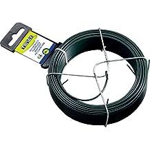 Tenax 06813de alambre de hierro plastificado verde 30m Diámetro 2mm