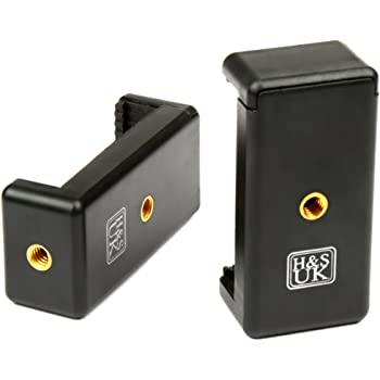 H&S.® 2 Smartphone Tripod Mount Holder Clamp Universal Mobile Phone Tripod Mount Holder Adapter for iPhone Samsung