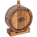 Flachmann ein Fass für Getränke 1L Eiche Geschenk Alkohol Bier Wein Spirituosen