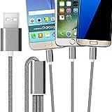 2ticks USB-C TYP-C / Micro USB / 8 Pin Beleuchtung - Drei in einem Universal Highspeed Multifunktions geflochtene 3 in 1