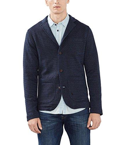 ESPRIT Herren Sakko aus Baumwoll Jersey Blau Blau (NAVY 400)