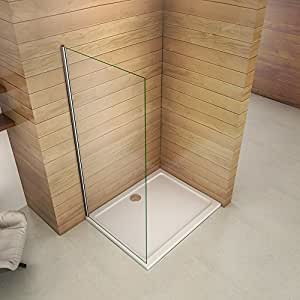 Paroi de douche 50x200cm paroi de douche à l'italienne verre anticalcaire paroi de fixation