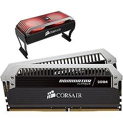 Corsair Dominator Platinum Kit di Memoria per Desktop a Elevate Prestazioni con Dominator Airflow RGB Fan, DDR4 16GB (2x8GB), 3466 MHz C16 XMP 2.0