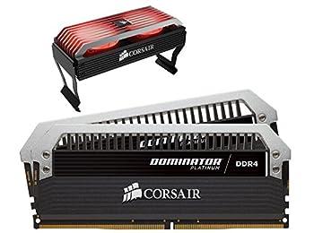 Corsair Dominator Platinum DDR4 16 GB (2 x 8 GB) 3466 MHz C16 XMP 2.0 Ram, Airflow RGB LED Fan ile