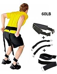 Grofitness Bounce Trainer Ensemble de vitesse l'agilité de jambe la musculation Lots de bandes de résistance