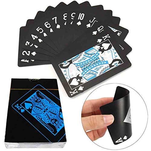Playing Cards Standard Spielkarten Wasserfeste Designer Profi Plastik Pokerkarten Zwei Eckzeichen - Deluxe Kartenspiele mit Jumbo Index - Profi Premium Spielkarten für Holdem Poker (1-Packung)