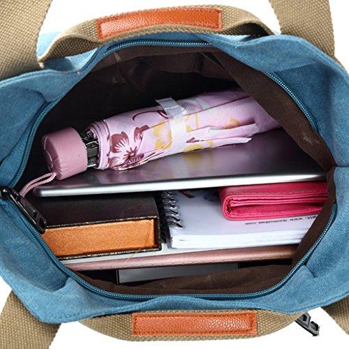 Supa Moden donna tela borsetta borsa a tracolla Hobo borse borsa a tracolla, donna, Dark Blue Black