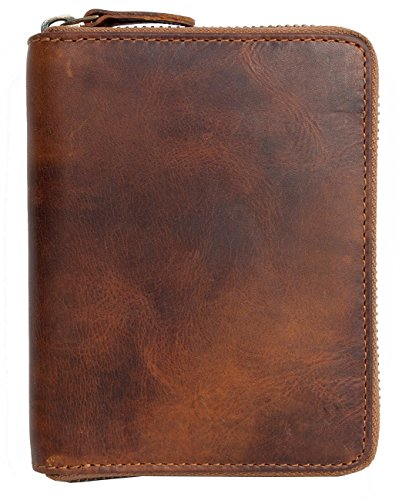 mens-metal-zip-around-natural-strong-genuine-leather-wallet-without-any-logos-or-markings