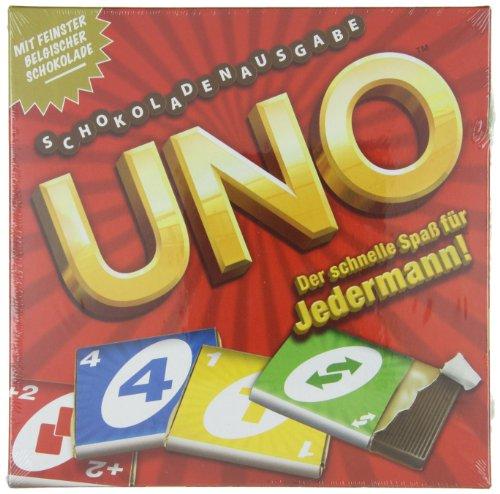 Gamesformotion Schokoladenspiel UNO 154g, 1er Pack (1 x 154 g) Spielen Schokolade Milch