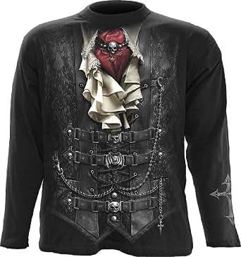 Spiral - Men - WAISTED - Longsleeve T-Shirt Black - Medium