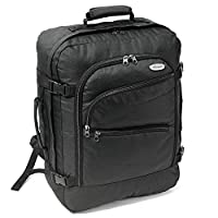Karabar EasyJet Cabin Approved Backpack 50 x 40 x 20 cm, 40 Litre, 800 Grams - 3 Years Warranty! (Black\Black)
