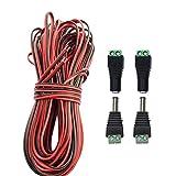 LitaElek 20m 2 Pin LED Streifen Verlängerungskabel LED Strip Extension Cable 2 polig LED Stripe Verbinder DC 12 volt Anschlusskabel für SMD 3528 2835 5050 5630 LED Band und andere DC 5V 12V 24V Geräte