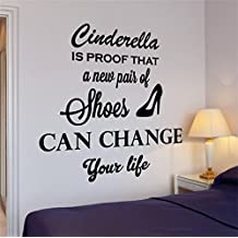 pegatinas de pared bebe Cenicienta es la prueba de que un nuevo par de zapatos  puede f41148b424cd