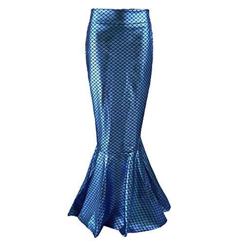 Damen Meerjungfrau Langer Rock - Frauen Mermaid Rock Meerjungfrau Schwanz Kostüm Cosplay Abendkleid 5 Farben