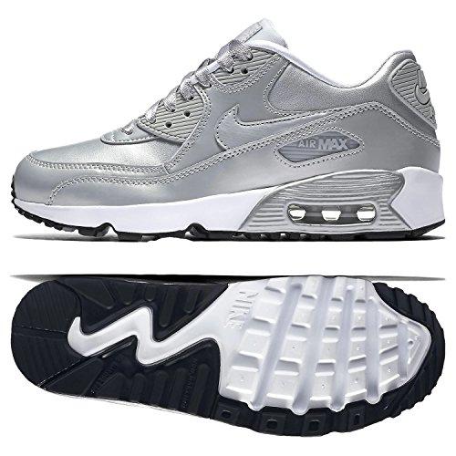 Nike Womens Air Max 90 Se Leather Metallic, Grey, 5.5 UK (38.5...