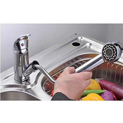 Baytter Einhebel Waschtischarmatur Wasserhahn Spültisch Küche Waschtisch Waschenbecken Bad -