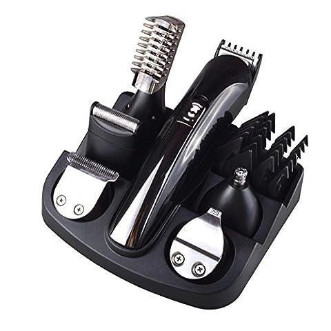 WGE Tondeuse Électrique À La Barbe Tondeuse À Barbe Shaver Blade Hair Clipper Kit De Toilettage Pour Homme