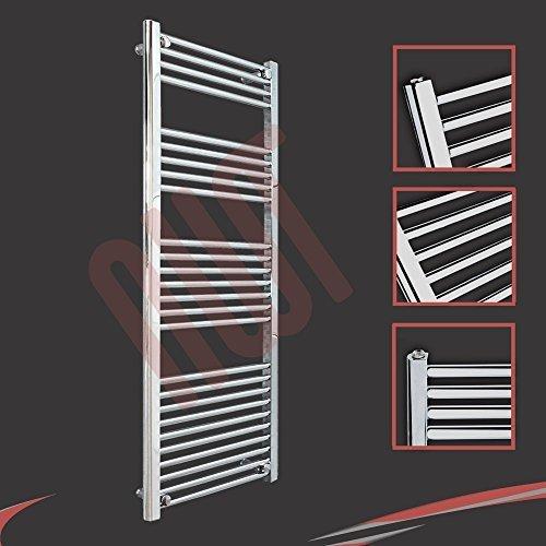 500mm (w) x 1400mm (h) - Radiateur sèche-serviettes plat chromé Barre Horizontale Diamètre: 22mm, Bar Modèle: 4 + 5 + 7 + 10