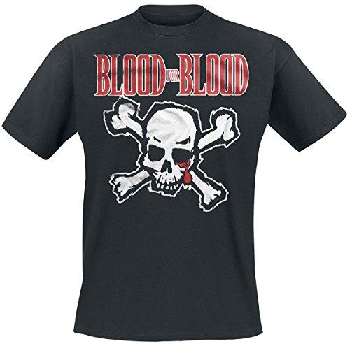 Blood-skull-t-shirt (BLOOD FOR BLOOD Skull T-Shirt Schwarz L)