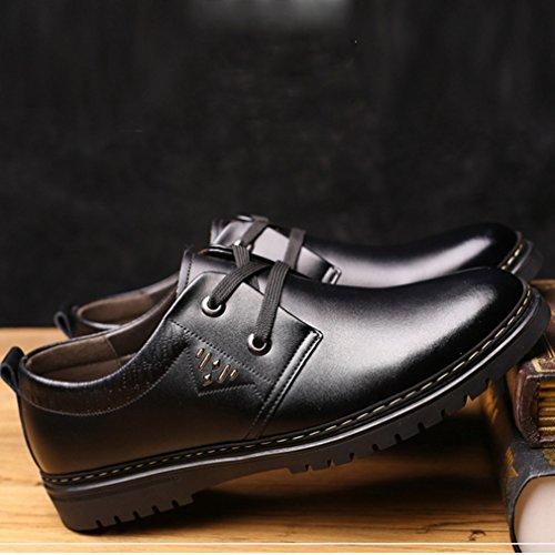 Redonda Smelle Zapatos De De Suaves Zapatos Confortables Encaje Del Derby De Ocio Feidaeu Delicados Punta Otoño Moda Hombres Negro La CwTCZHqcrW