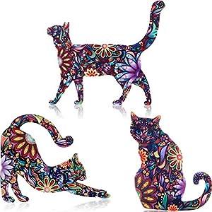 9 Stück Acryl Katze Brosche Niedlichen Tier Muster Anstecknadel Abzeichen Zubehör