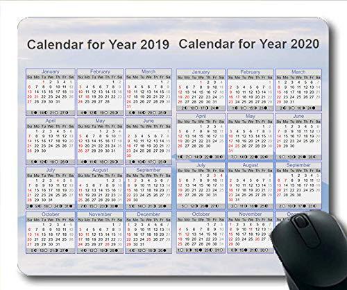 2019 Kalender-Mauspad, Kalender 369 Gaming-Mauspad, Kalenderplaner 2019 mit Feiertagsdetails (Bmw M Kalender)