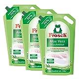 3x Frosch Aloe Vera Waschmittel 1,8 Liter - Sensitiv mit Aloe Vera