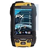 atFolix Schutzfolie kompatibel mit RugGear RG500 Folie, ultraklare FX Bildschirmschutzfolie (3X)