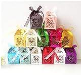 100 Pezzi Gift Box Doccia Candy Box imballaggi di Carta da Festa di Nozze favori di Bustine scatole di Cartone Bonbonniere Goodie Bags Colore Casuale