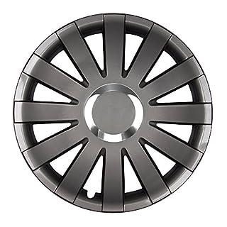 Autoteppich Stylers (Farbe und Größe wählbar) 14 Zoll Radkappen Onyx (Graphit) passend für Fast alle Fahrzeugtypen (universal)