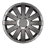 Eight Tec Handelsagentur (Farbe und Größe wählbar!) 16 Zoll Radkappen Onyx (Graphit) passend für Fast alle Fahrzeugtypen (universell) - vom Radkappen König