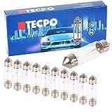 TecPo 10x C5W Soffitte Autolampe Glühbirne 12V 5W 38 mm Kennzeichenbeleuchtung