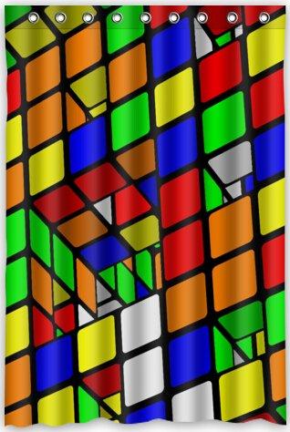Cube, Cube Puzzle Wasserdicht Stoff Polyester Badezimmer Dusche Vorhang 121,9cm (W) X 182,9cm (H) ()
