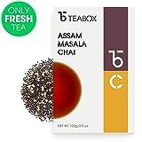 Té negro Teabox Assam Masala Chai 100 g (40 tazas) Origen India | Hojas sueltas con ingredientes naturales: canela, cardamomo, pimienta negra, jengibre, clavo. | Con la frescura que proporciona su envío directo desde las plantaciones.